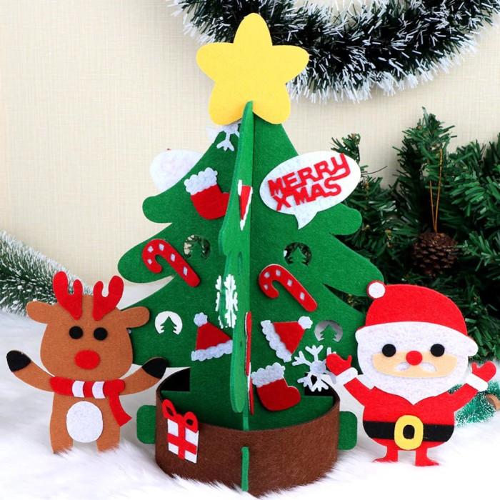 フェルト製ミニクリスマスツリー