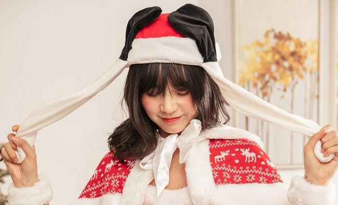クリスマスぴこぴこ帽子